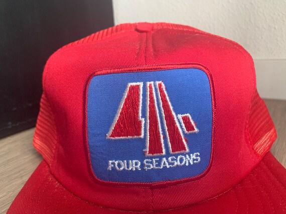 Vintage Four Seasons Red Trucker Snapback Hat - image 2
