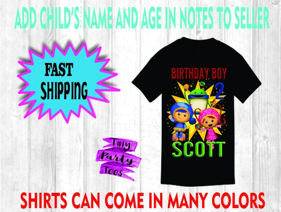 NEW Team Umizoomi Personalized Birthday Party Favor Gift T-Shirt