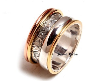 c8cc27138b04d0 Spinner Ring, Anxiety Ring, 925 Silver Ring, Boho Ring, Designer Ring,  Women Ring, Meditation Ring, Handmade Ring, Worry Ring, Silver Ring