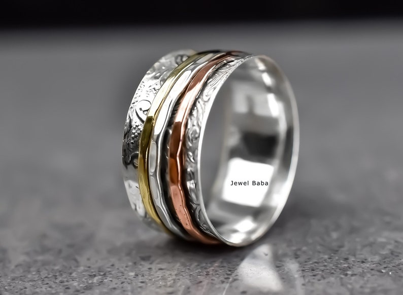 Vintage Ring Worry Ring Spinner Ring Women Ring Anxiety Ring Handmade Ring Fidget Ring Gift For Her Spinner Band Statement Ring