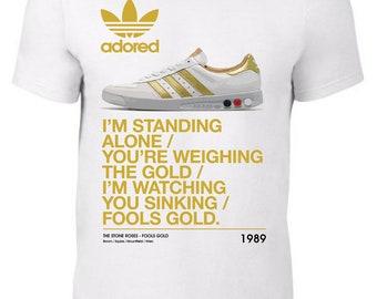 Fools Gold Rock Stone Roses Music Womens T-Shirt