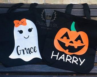 Trick or Treating Bag Tote Halloween Accio Treats Purse Bag Wizzard