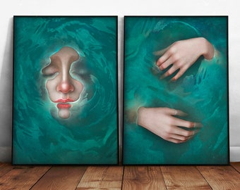 """2 posters with illustrations 