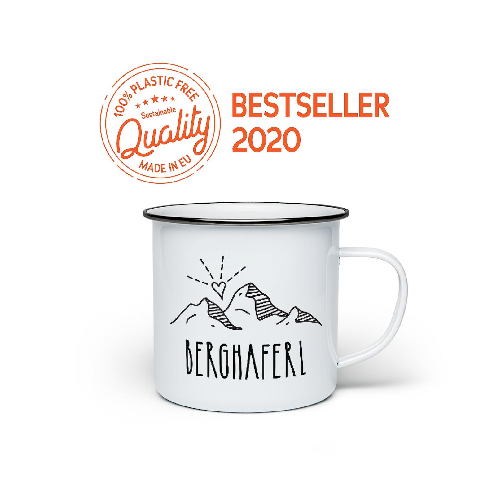 Enamel mug with unique German design