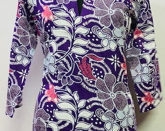 Indian Antique Ethnic Summer Lightweight Glossy Excellent Quality  short Pure Silk floral Tunic Top silk printed blouse silk printed kurti
