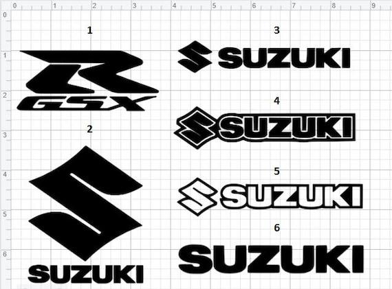 Calcomanías Suzuki / Logotipo Suzuki / Calcomanías de motocicleta / Etiquetas de vinilo para motocicletas / Cualquier color cualquier tamaño / Bicicleta / GSXR / Logotipo GSXR / Suzuki Sticker