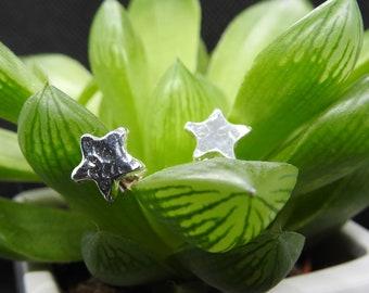 Seren bach – little star (in Welsh) earring- recycled silver earrings- star earring - star- eco-friendly jewellery- made in Wales- silver