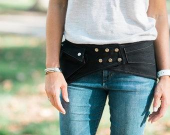 Angle Pocket Belt Hip Belt Cell Phone Pouch