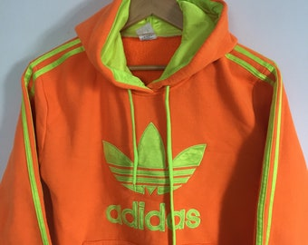 Yellow adidas hoodie | Etsy