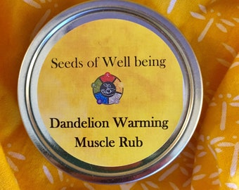 Dandelion Warming Muscle Rub Organic Herbal Salve