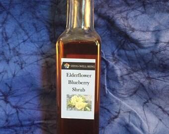 Elderflower Blueberry Shrub Herbal Organic