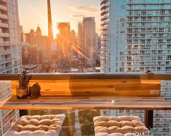 1 x Balcony Bar, Patio Bar, Balcony Table -  Acacia Wood - FREE SHIPPING within North America!