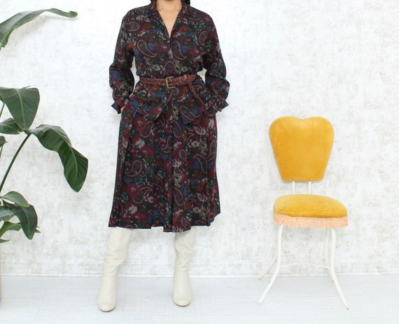Vintage Retro Skirt-Set | Paisley Skirt and Blouse