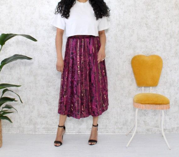 Vintage Silk Skirt-Set | 1980s Paisley Skirt and B