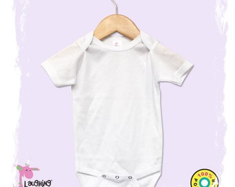 ddd9b7083 Baby Bodysuit sublimation certified, infant blank, 100% White Polyester