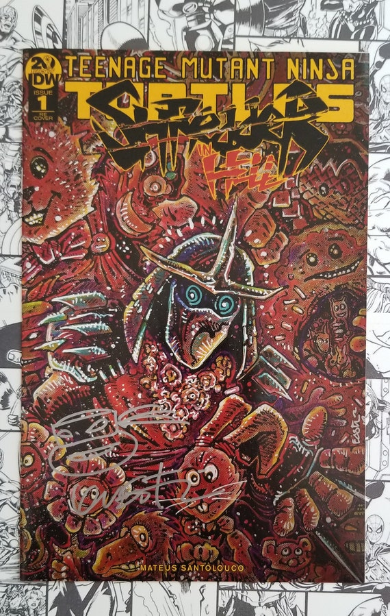 Tmnt Shredder In Hell 1 Exclusive Hawaii Con Variant Signed Etsy