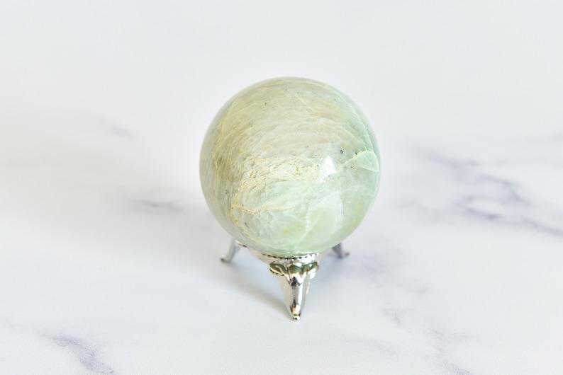 Green Moonstone Sphere 3