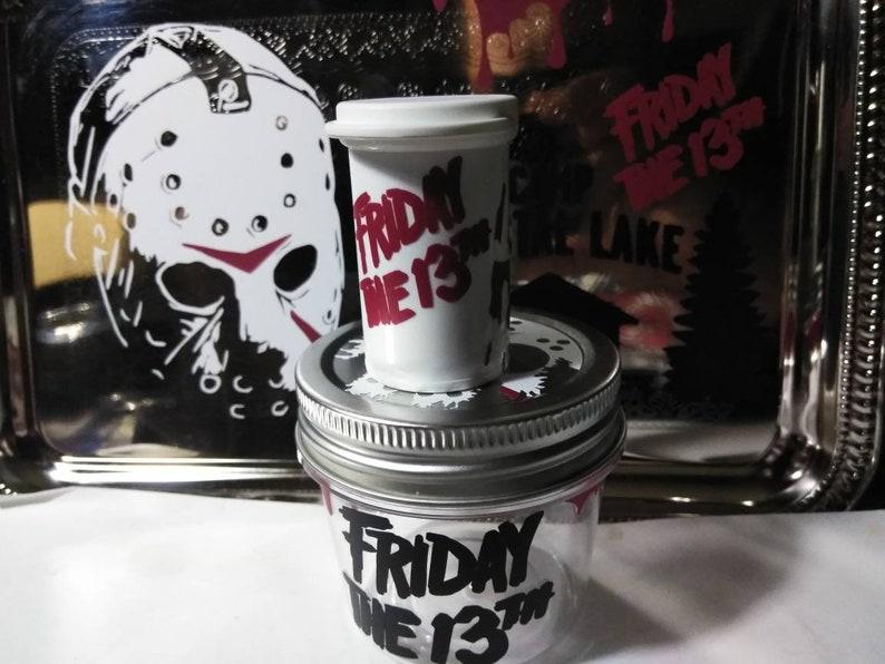 Horror Jason Friday the 13th  rolling tray