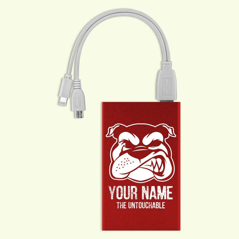 Personalized Power Bank  For iPhones & Android Phones  Carve it with your  name!