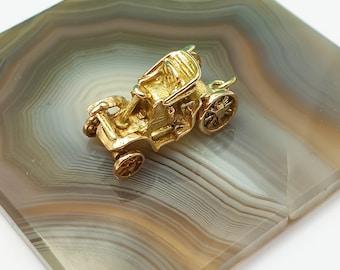 Vintage 1957 9ct Gold Classic Car Charm Pendant