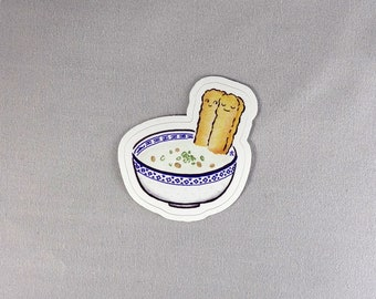 Congee and Donut Sticker