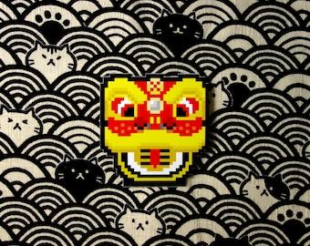 Chinese Lion Head Sticker