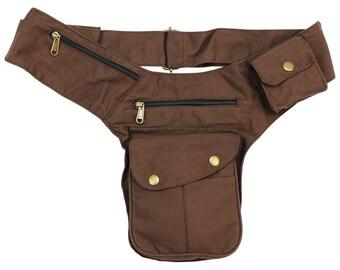 Belt Bag-Buddy-Brown-brass colours-Belly Bag-Hip Bag