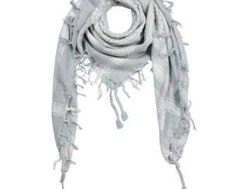 34bc88b5fd343d Palituch - grau - weiß - Kufiya PLO Tuch