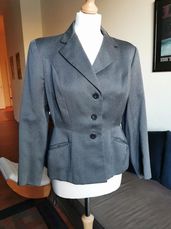 1940's grey cotton wool jacket/blazer M-L