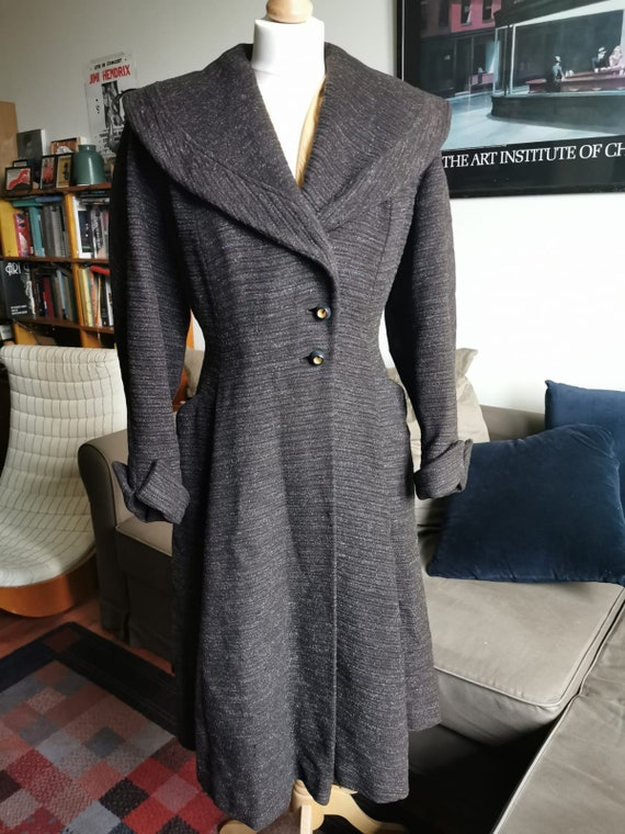 late 1940's New Look wool princess coat size M