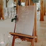 Acrylic wedding Sign   Seating Chart   Welcome   Copper Frame