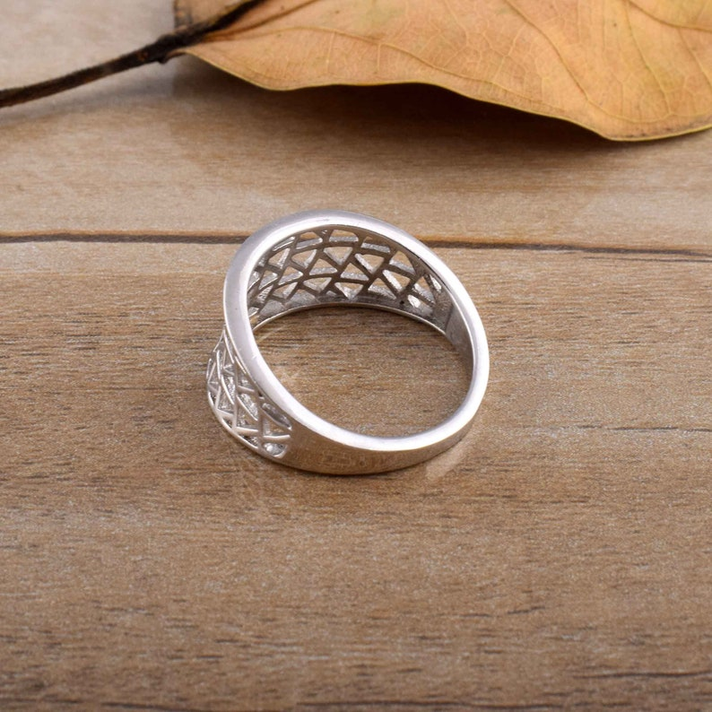 925 silver ring handmade silver ring gift for her solid silver ring