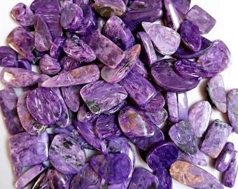 320 ct Natural purple Charoite cabochon Mix 8pcs Wholesale lot gemstone russian chatoyant charoite designer Charolite cabs for jewellery 897