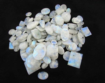 Raw Cabochon Blue Flashy Druzy Gemstone Wholesale Lot Natural Rainbow Moonstone Druzy Mix ShapesSize Rainbow Moonstone Cabochon Stones