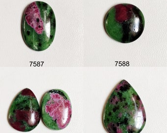 10 PCS Amazing Quality Ruby Zoisite lot Cabochons Ruby Zoisite Gemstone Amazing Top Quality Ruby Zoisite Loose stone 230cts.