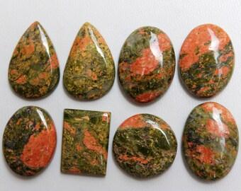 Unakite Gemstone Cabochon-Unakite Cabochon-Natural Unakite Smooth Pear Shape Cabochon-40x28x6 MM-High Quality-Wholesalegems-BS10237