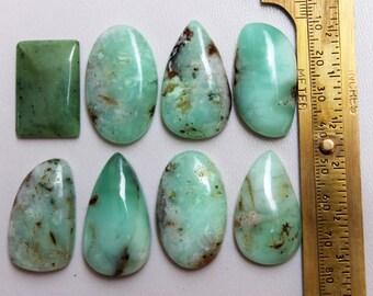 Flat Back AG-13333 Pendant Stone Loose Gemstone Reasonable Price Australian Green Chrysoprase Cabochon Size 51x34x5 MM Jewellery Making