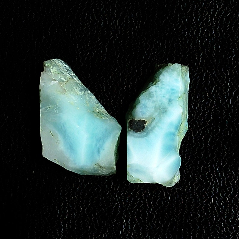 Larimar Slice Flat Stone Rocks mineral Pendant gemstone Natural Larimar Crystal Slice Polished Larimar Slice slab Necklace Jewelry