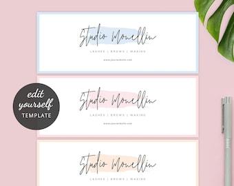 Blog Header Profile Picture Web Banner Cover Social Media Banner Set INSTANT DOWNLOAD Timeline Cover Blush Pink Paris Branding