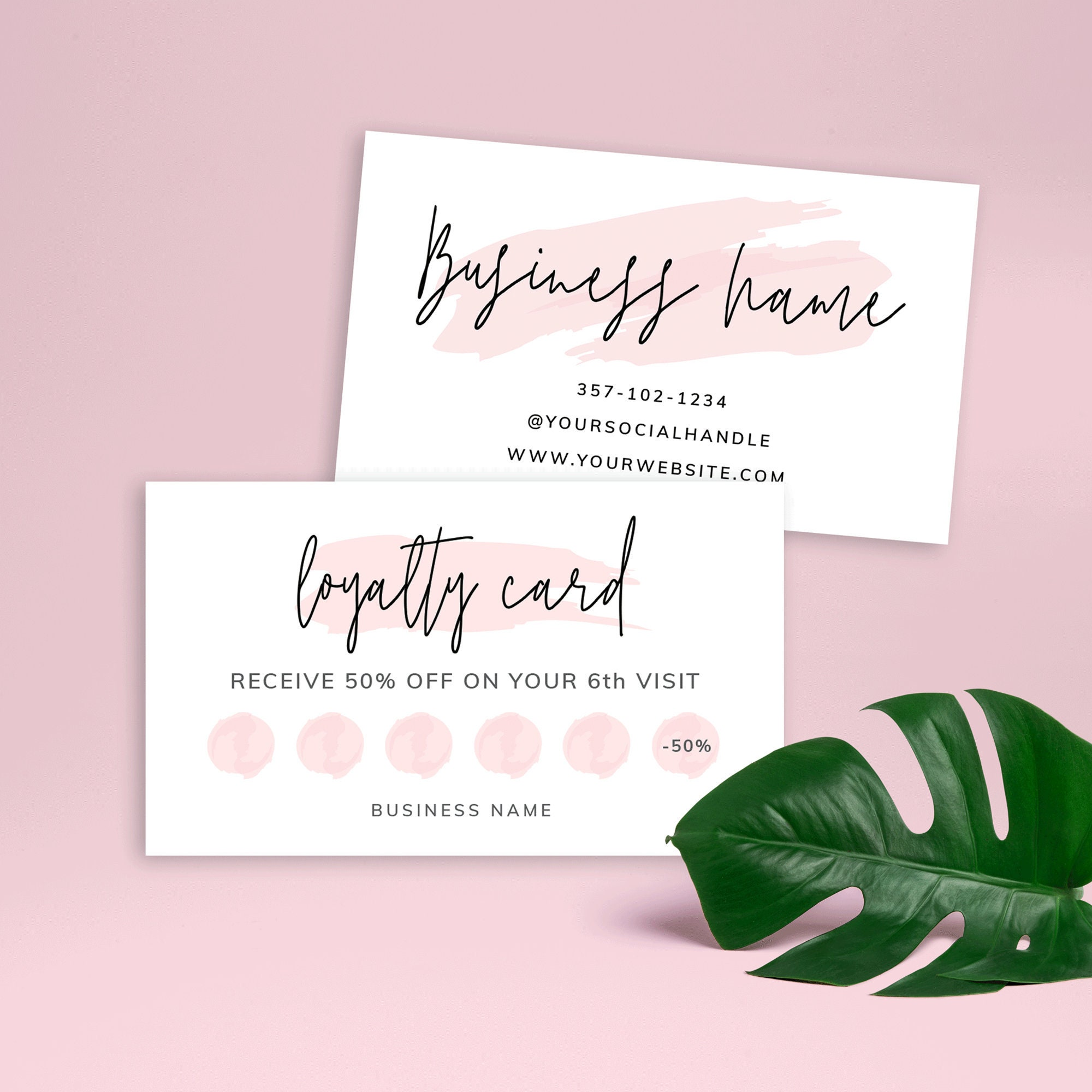 Printable Loyalty Card, Beauty Loyalty Card Template, Editable Rewards  Card, Nail Salon Loyalty Card, Customer Rewards Cards, Lashes, PW-21 With Regard To Customer Information Card Template