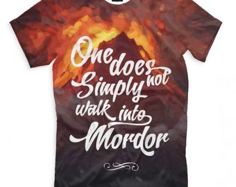 d39f76355 One does not simply walk into Mordor The Lord of the Rings Art T-shirt,  Men's Women's All sizes