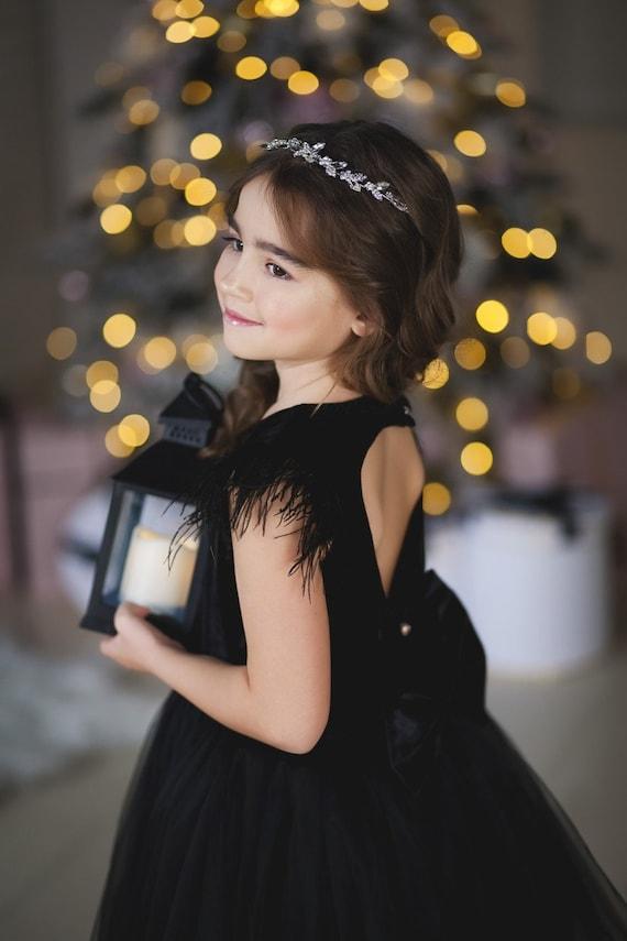 Feathers Dress Pretty Dress Birthday Dress Little Star Kids Dress Family Look Elegant Dress Girls Princes Dress Airy Dress Tutu Dres