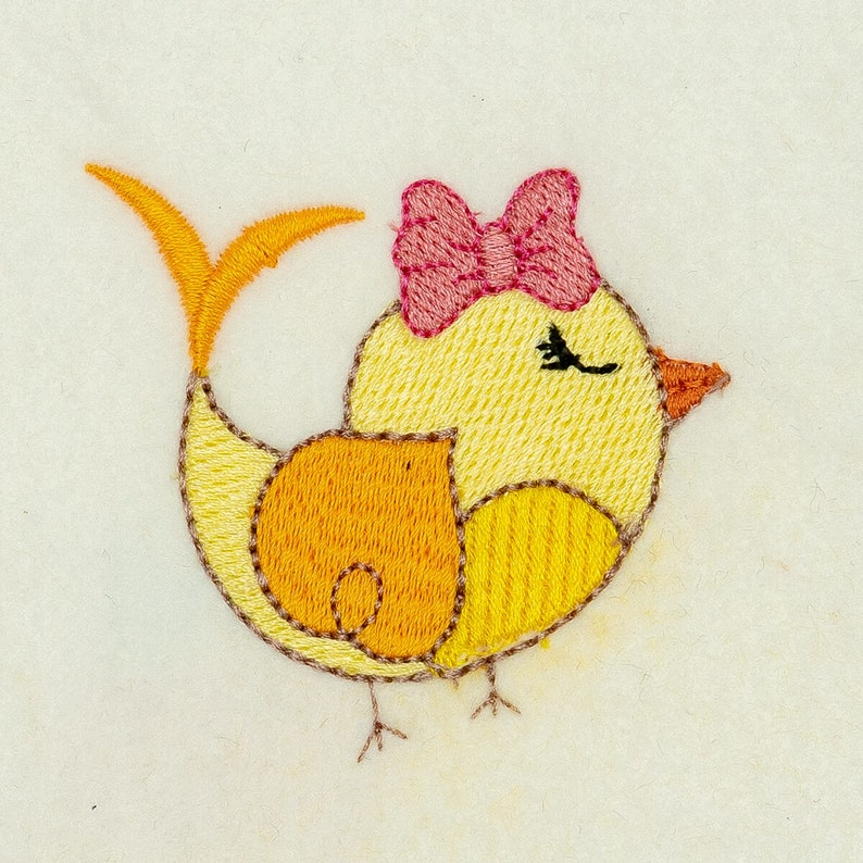 7 Different Sizes for Instant Download Bird Embroidery Design