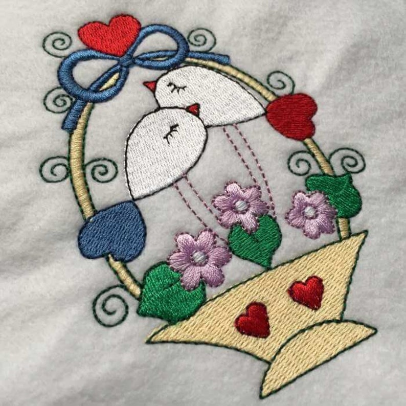 Bird Embroidery Design 6 Different Sizes for Instant Download
