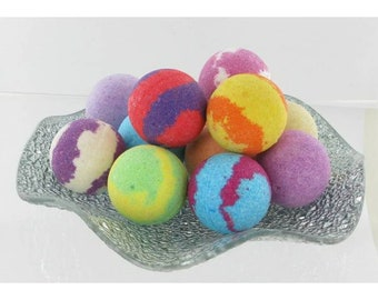 Bath balls, bath bombs 40g, ocean, raspberry, green tea, pomelo, apricot, violet, Monoi, lavender, verbena, blueberry, pink, vanilla