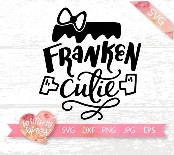 Franken Cutie Svg Cut File Halloween Svg Frankenstein Svg Etsy