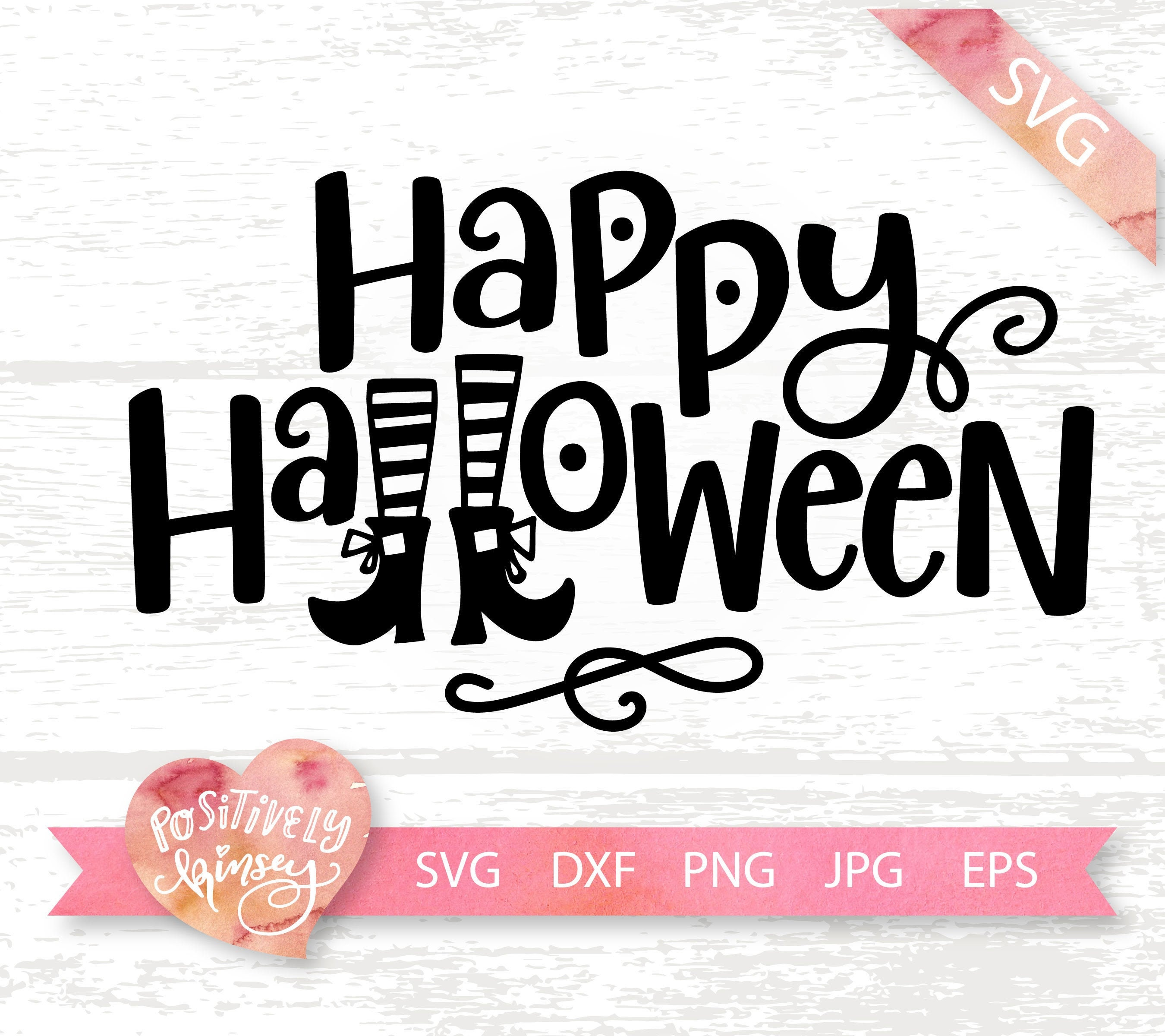 Happy Halloween Svg Halloween Cut File Witch Svg Files Etsy