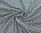 Jersey, white, petrol geometric pattern
