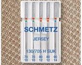 Schmetz Sewing Machine Needles 130/705 Jersey 70-90