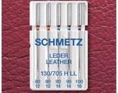 Schmetz Sewing machine needles 130/705 Leather 80-100